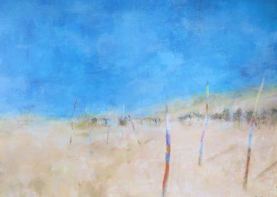 Les plages de Bisca 90x70